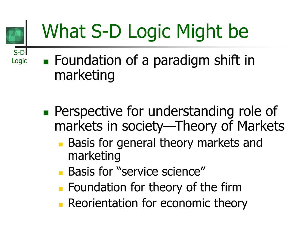 What S-D Logic Might be