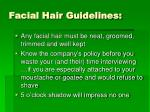 facial hair guidelines