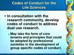codes of conduct for the life sciences