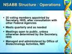 nsabb structure operations