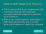 what is rom read only memory