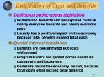 distribution of costs and benefits30