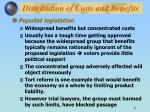 distribution of costs and benefits31