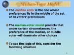 median voter model