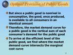 optimal provision of public goods10