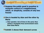 optimal provision of public goods11