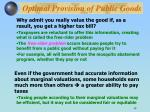 optimal provision of public goods14