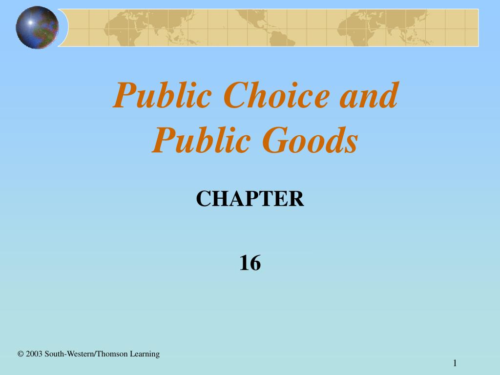 public choice and public goods l.