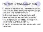 four steps for teaching sport skills