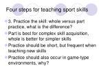 four steps for teaching sport skills21