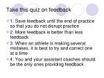 take this quiz on feedback