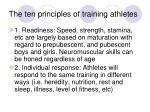 the ten principles of training athletes
