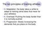 the ten principles of training athletes26