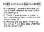 the ten principles of training athletes27