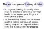 the ten principles of training athletes28