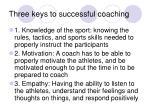 three keys to successful coaching