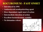 rocuronium fast onset