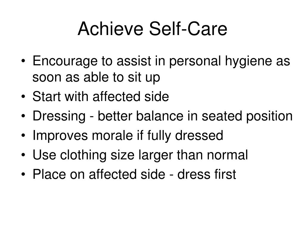 Achieve Self-Care