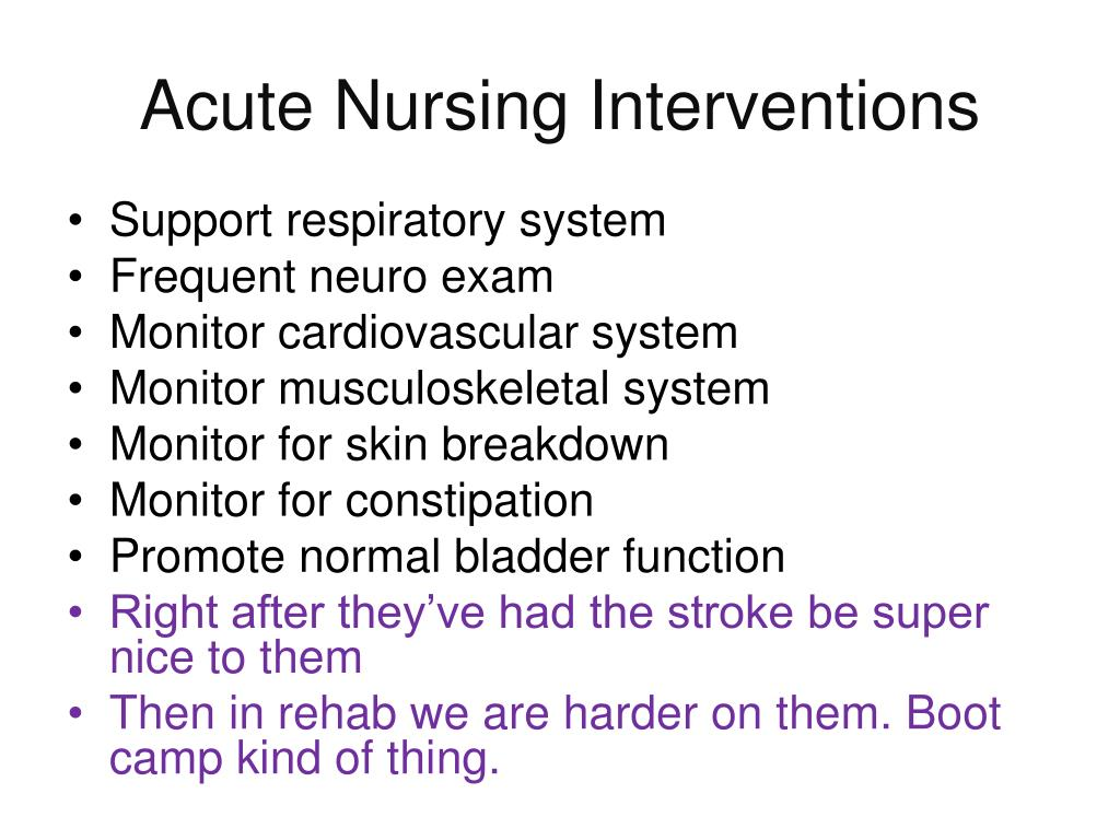 Acute Nursing Interventions