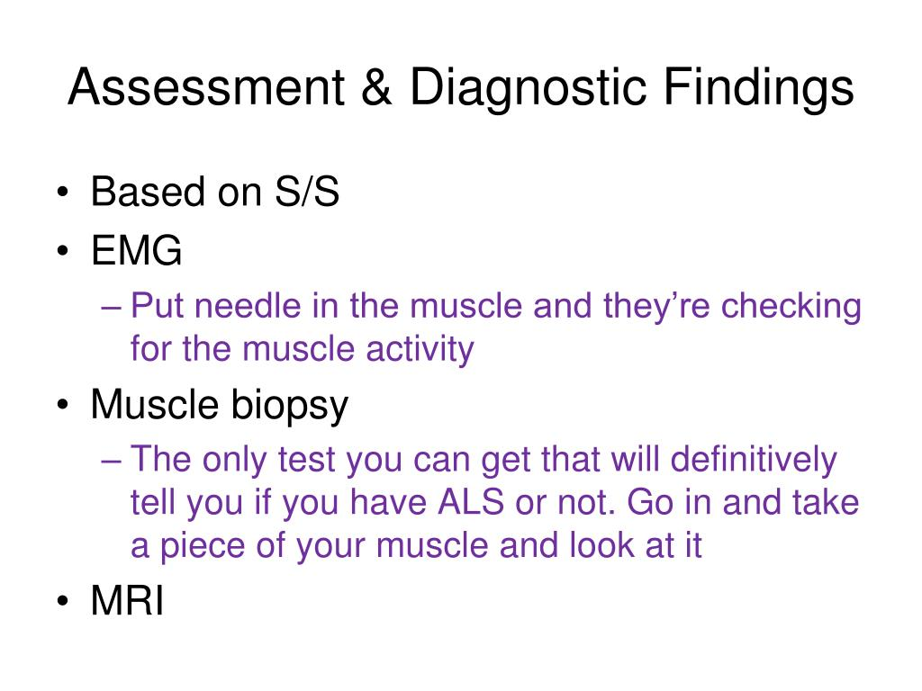 Assessment & Diagnostic Findings