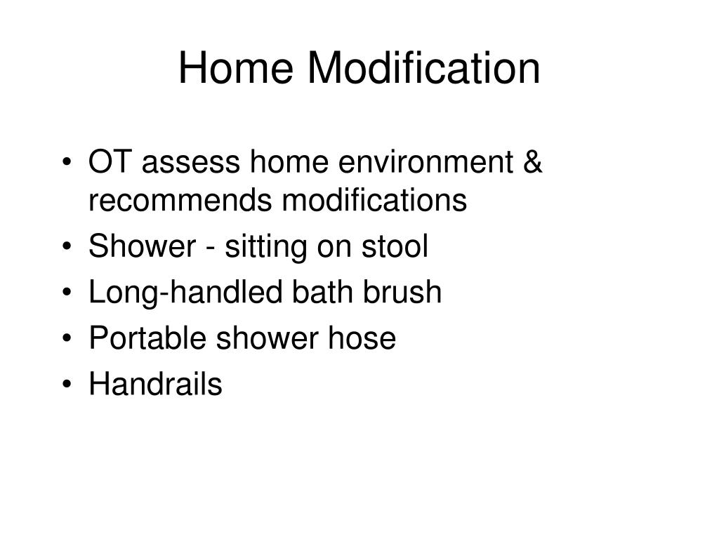 Home Modification