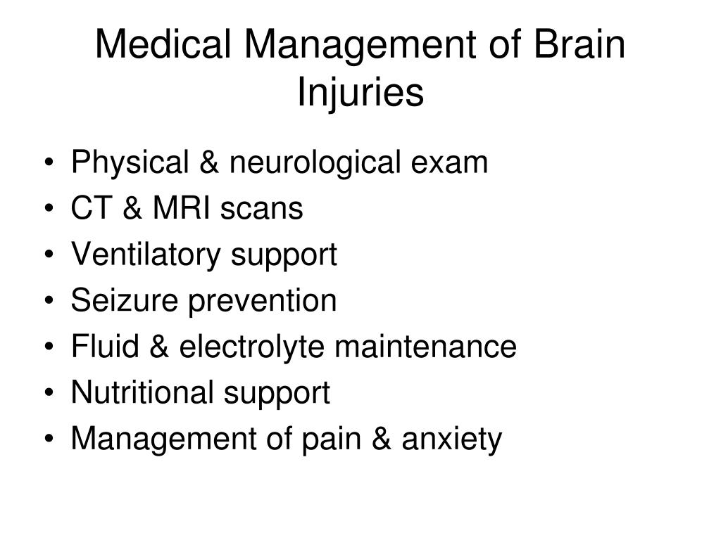 Medical Management of Brain Injuries