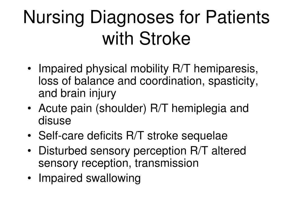 Nursing Diagnoses for Patients with Stroke