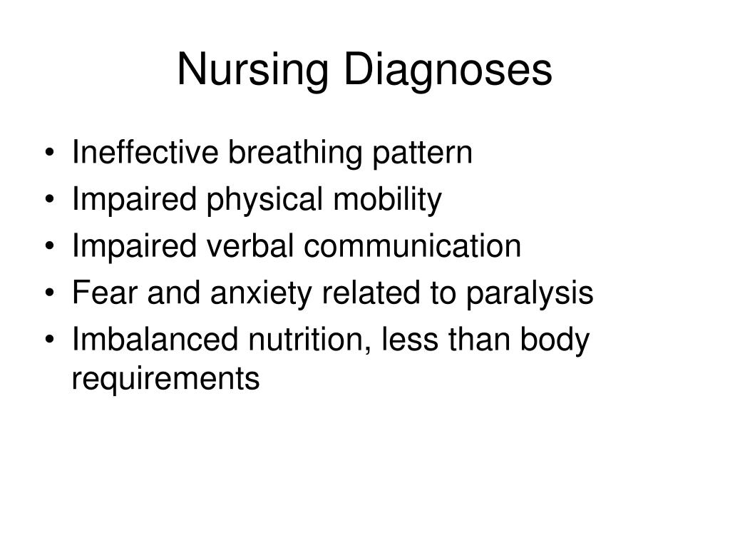 Nursing Diagnoses