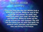 rip van winkle summary