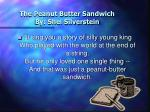 the peanut butter sandwich by shel silverstein