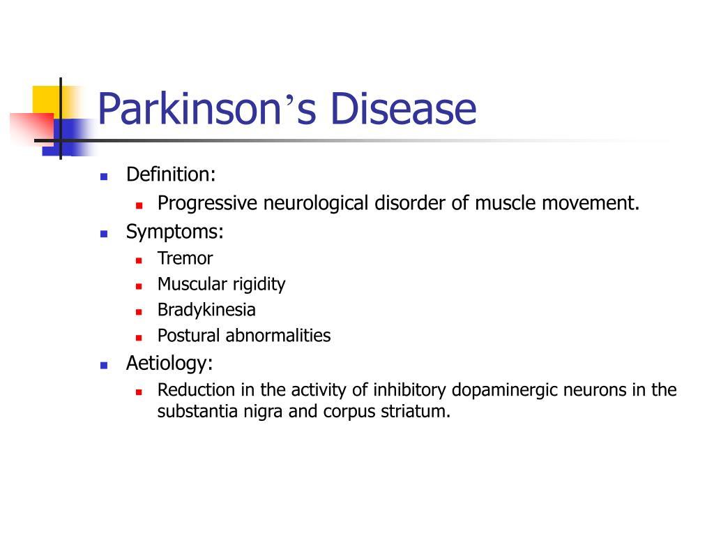 neurological disorder parkinson s disea