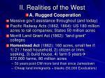 ii realities of the west