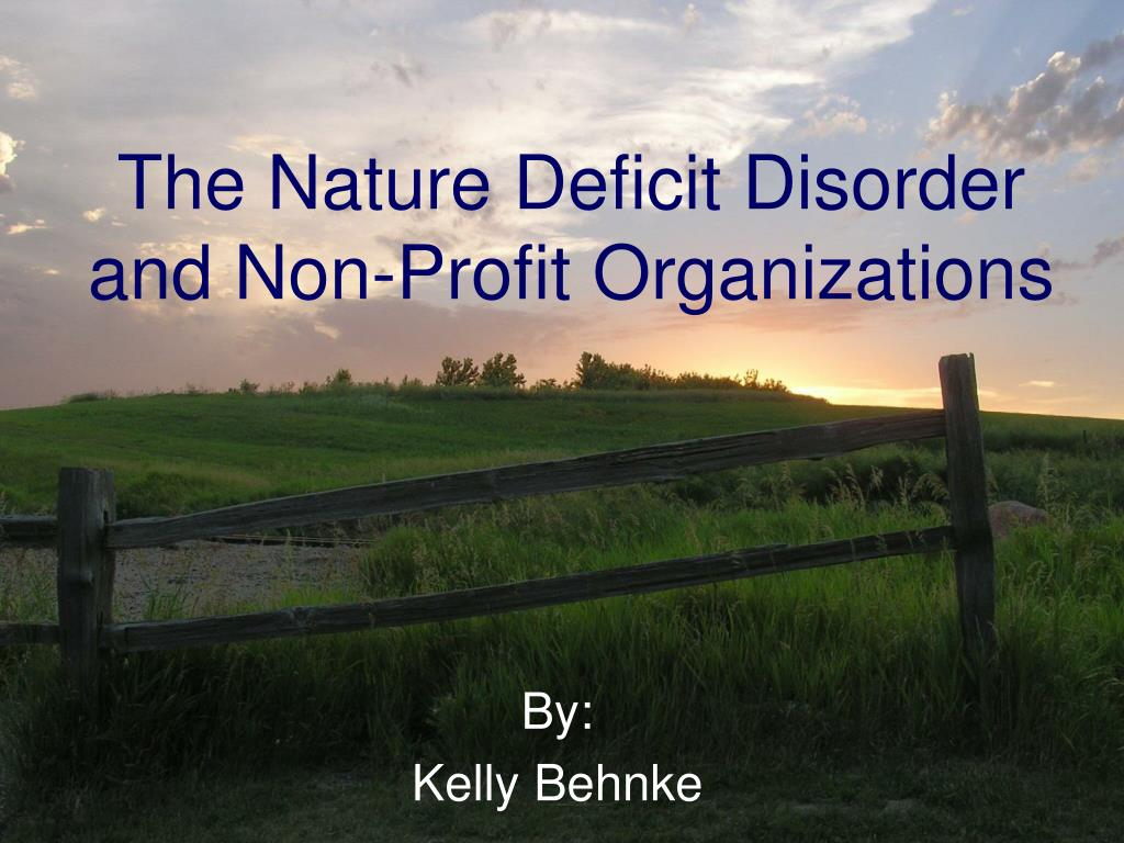 the nature deficit disorder and non profit organizations l.