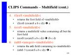 clips commands multifield cont