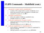 clips commands multifield cont295