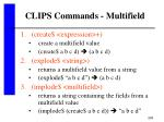 clips commands multifield