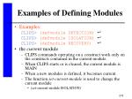 examples of defining modules