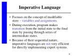imperative language