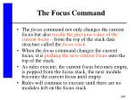 the focus command288