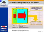 iec 61850 interoperability in two phases