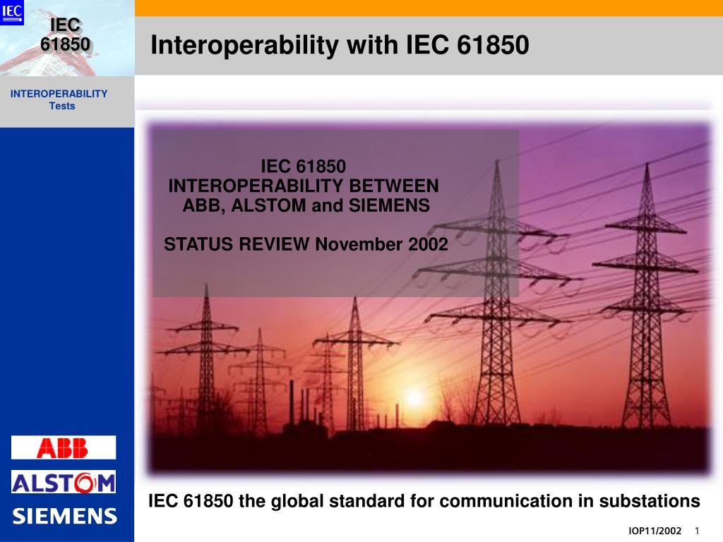 interoperability with iec 61850 l.