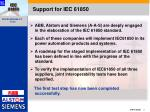 support for iec 61850