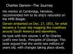 charles darwin the journey