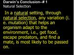 darwin s conclusion 1 natural selection