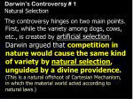 darwin s controversy 1 natural selection