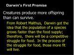 darwin s first premise