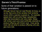 darwin s third premise