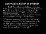 ralph waldo emerson on evolution