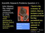 scientific research problems question 1