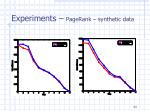 experiments pagerank synthetic data